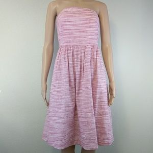 [Banana Republic] Heathered Pink linen strapless 4